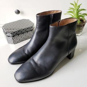 "Via Spiga | ""Vinson"" Leather Block Heel Ankle Boot"